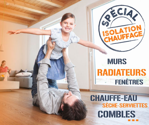 promo chauffage, isolation, confort, tract 100% confort
